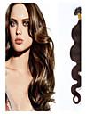 klass 5a 1st / lot 20inch / 50cm multicolors vågigt fusion Kontakten / u hårförlängning människohår väver 1g / s