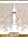 24inch 60cm 120g färg 60 # klämma in på hårförlängningar vågig klipp på löshår
