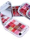 12 färg läppstift läppglans makeup palett (4 valbara färger)