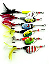 "7 pcs Spinnerbaits / leurres de peche Leurre Buzzbait & Spinnerbait / Grenouille Couleurs assorties 7.5g g/5/16 Once mm/2-5/8"" pouce,Metal"