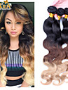 "3pcs / lot 10 ""-30"" peruvien cheveux vierges couleur 1b / 4/27 vague de corps cheveu humain tisse"