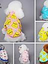 Chat / Chien T-shirt / Pyjamas Jaune / Bleu / Incanardin / Gris Vetements pour Chien Ete / Printemps/Automne Dessin-AnimeMignon /