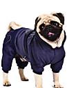 Chien Manteaux Pulls a capuche Combinaison-pantalon Bleu Violet Noir Incanardin Vetements pour Chien Hiver Printemps/Automne Coeur