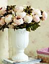 Une succursale Polyester Pivoines Fleur de Table Fleurs artificielles 47CM*20CM*20CM