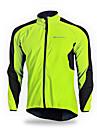 NUCKILY® Veste de Cyclisme Homme Manches longues Velo Respirable Garder au chaud Pare-vent Bandes Reflechissantes Coupe-vent Veste Maillot