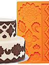 kaka dekoration verktyg globala fondant och gummi klistra mögel tårta gränssilikonform fm-03