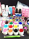 80pcs ren färg uv gel rengöringsmedel primer nail art kit set