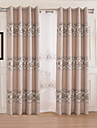 AnTi™ One Panel  Home Fashion Modern Polyester Linen Big Branches Jacquard Room Darkening Curtain