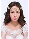 Mujer Acrilico Celada-Boda / Ocasion especial / Casual Bandas de cabeza 1 Pieza Claro / Marfil Redondo
