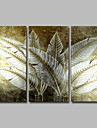 Peint a la main A fleurs/BotaniqueModern Trois Panneaux Toile Peinture a l\'huile Hang-peint For Decoration d\'interieur