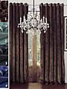 twopages collection sophia chenille solide rayonne melange rideau de poids lourd drape un panneau