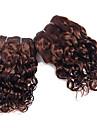 super våg hårförlängningar set # 4 ljusbrun jungfru människohår väva brasilianska löst våg hår vävning