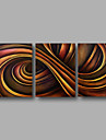 Ready to Hang Hand-Painted Oil Painting on Canvas Wall Art Contempory Abstract Brown Color Home Deco Three Panel