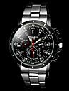 Men's Casual Silver Black Alloy Quartz Wrist Watch Cool Watch Unique Watch