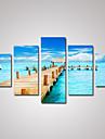 Loisir / Paysage / Architecture / Photographie Toile Cinq Panneaux Pret a accrocher , Format Horizontal