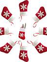 5st jul dekoration mini strumpor kniv och gaffel bestick väskor