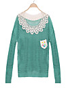 FEMEI - Pulovere ( Îmbrăcăminte tricotată ) Informal Rotund - Mânecă Lungă