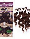 """brasilianskt jungfruligt söt vågigt hår vävda 2x12 """"2x14"""" 2x16 """"6st jungfru hår förkroppsligar vinkar människohår väver 200g / set"""