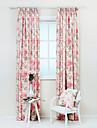 två paneler pastorala land poly bomull blommig botanisk print gardiner draperier