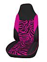 tissu de velours de autoyouth housse de siege de voiture de zebre rose compatibles avec la plupart des vehicules Housse de siege