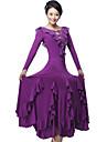 Ballroom Dance Dresses&Skirts Women\'s Performance / Training Milk Fiber Crystals/Rhinestones / Draped / Ruffles