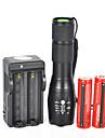 LED-Ficklampor LED 5 Läge 1800 Lumen Vattentät / Laddningsbar / Stöttålig / Strike Bezel / Taktisk / Nödsituation Cree XM-L T618650 /