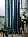 Deux Panneaux Le traitement de fenetre Rustique Moderne Neoclassique , A pois Chambre a coucher Melange Poly/Coton MaterielRideaux