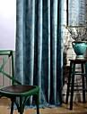 Två paneler Fönster Behandling Rustik Modern Nyklassisistisk , Polka dots Sovrum Polyester/Bomull Blandning Material gardiner draperier