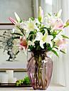 Une succursale Soie Plastique Lis Fleur de Table Fleurs artificielles 96x20x20cm