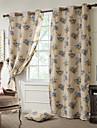 Två paneler Fönster Behandling Medelhavet Europeisk Rustik Modern Nyklassisistisk Sovrum Polyester MaterialMörkläggning Gardiner