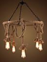 40W Ljuskronor ,  Traditionell/Klassisk / Rustik/Stuga / Rustik / Vintage / Kontor/företag Rektangulär Särdrag for stearinljus stil PVC