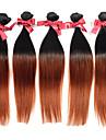 jungfru perivian rakt hår väver två ton T1B / 30 ombre silkeslen raka människohår vävda 1pcs hårwefts 50g / st