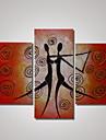 3 paneler 100% handmålade modern oljemålning dans kvinna och man abstrakt väggkonst redo att hänga