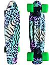 färgad leopard grafisk tryckt plast skateboard (22 tum) cruiser styrelse med ABEC-9 lager