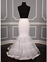 Slips Mermaid and Trumpet Gown Slip Tea-Length 3 Nylon / Tulle Netting / Tulle White