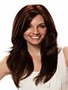 les femmes dame europeennes perruque ondes syntheic extensions de perruques belle couleur est brun fonce