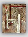 HANDMÅLAD Abstrakt / Känd / Stilleben / Fritid / fantasiStil / Moderna / Realism En panel Kanvas Hang målad oljemålning For Hem-dekoration