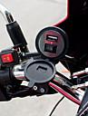 1 * vattentät USB-laddare med omkopplare för fordons motorcykel cykel svart
