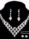 Set bijuterii Pentru femei Aniversare / Nuntă / Logodnă / Zi de Naștere / Cadou / Petrecere / Ocazie specială Set Bijuterii Aliaj Ștras