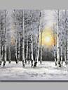 Peint a la main Paysage / A fleurs/Botanique / Paysages AbstraitsModern Un Panneau Toile Peinture a l\'huile Hang-peint For Decoration