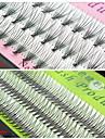 1 Cils  Individuels Cil Epais / Longs Naturels Etendu / Cils courbes / Dense / Naturel / Epais / Boucle Moitie Fait Main Fibre