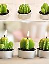6 x pot de cactus definir parti bougies bougie decorations de noel de mariage (couleur aleatoire)