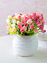 Une succursale Soie Plastique Roses Fleur de Table Fleurs artificielles 22cmX13cnX2cm