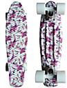 lila blom- grafiskt tryckt plast skateboard (22 tum) cruiser styrelse med ABEC-9 lager