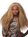 varm säljande syntetiska blonda långa kinky våg peruker