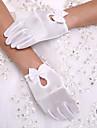 Lungime Încheietură Vâfuri de Degete Mănușă Spandex Mănuși de Party/ Seară Mănuși Fete cu Flori Primăvară Vară Toamnă Iarnă Perle Funde