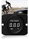 bil motorcykel effektvakt digital röda lysdioden voltmeter voltmeter dc 4-26v