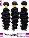 peruanska vinkar djupt hår vinkar djupt peruanska hår 3st mycket indisk vinkar djupt jungfruligt hår