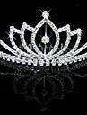 Vrouwen Bergkristal Kristallen Licht Metaal Helm-Bruiloft Speciale gelegenheden Tiara\'s 1 Stuk