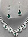 Pentru femei Seturi de bijuterii Cercei Picătură Coliere cu Pandativ Elegant de Mireasă Festival/SărbătoarePiatră Preţioasă Diamante
